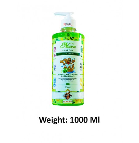 Robust Aloevera Neem Shampoo For Pets 1000 Ml