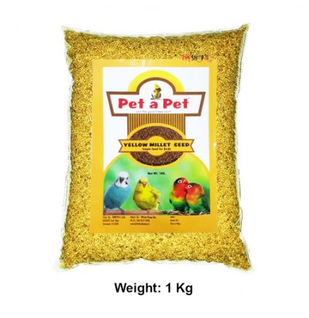 Pet A Pet Birds Food & Treats Yellow Millet Seeds 1 Kg
