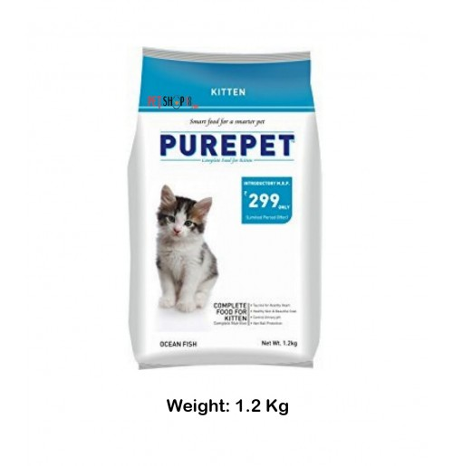 Purepet Ocean Fish Kitten Food 1.2 Kg