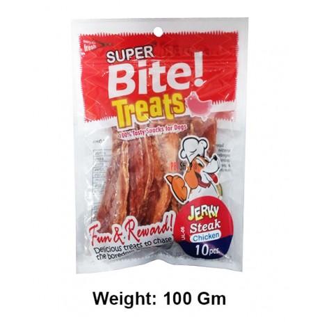 Super Bite Dog Treats Jerky Steak Chicken 10 In 1