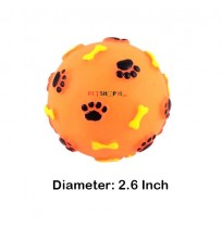 Super Dog Paw And Bone Printed Rubber Ball Small