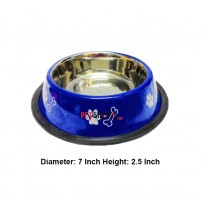 Super Dog Colorful Steel Dog Feeding Bowl Size 02