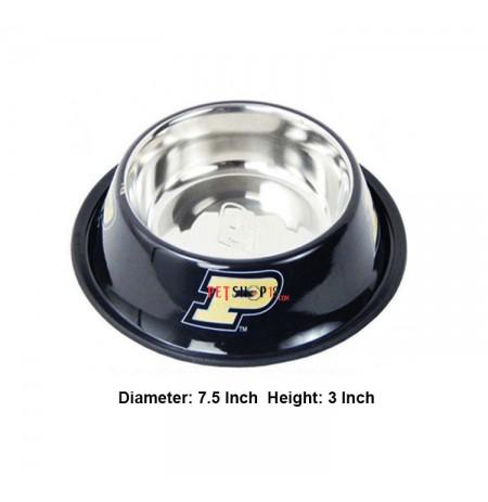 Super Dog Colorful Steel Dog Feeding Bowl Size 03