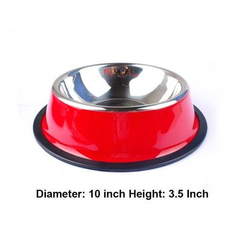Super Dog Colorful Steel Dog Feeding Bowl Size 05