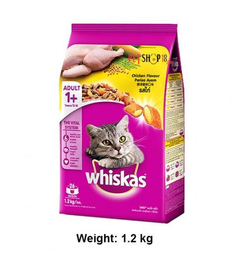 Whiskas Adult Cat Food Chicken Flavour 1.2 Kg
