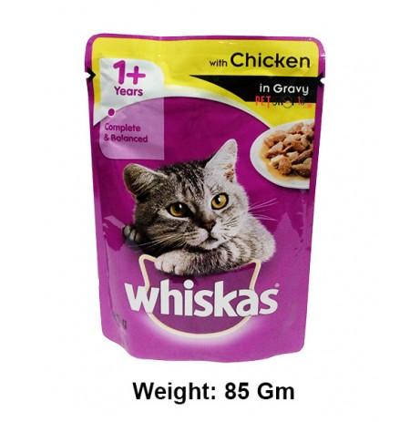 Whiskas Cat Food Chicken In Gravy Pouch 85 Gm