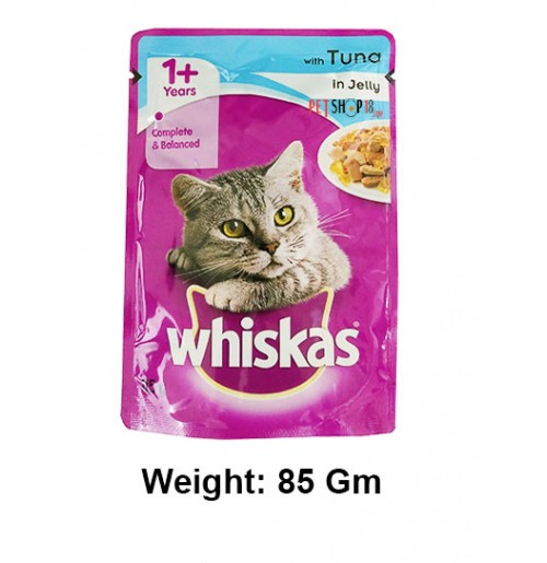 Whiskas Cat Treat Tuna In Jelly Gravy Pouch 85 Gm