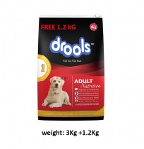 Drools Adult Chicken And Egg 3kg(Extra 1.2Kg Free)