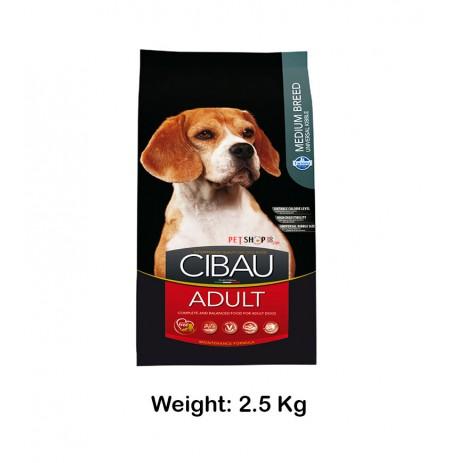 Cibau Adult Dog Food Medium Breed 2.5 Kg