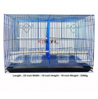 Bird 2 Part Cage Large Blue