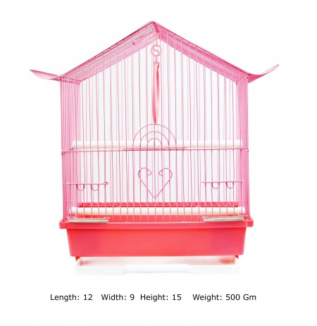 Bird Cage Monastery Shape Small Pink