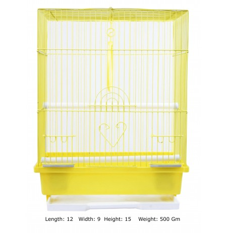 Bird Cage Yellow Flat Small