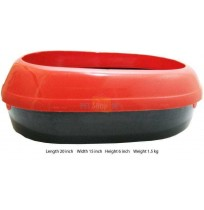Cat Litter Tray Red