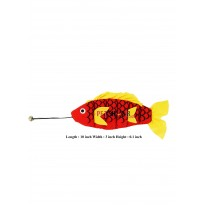 Big Fish Cat Toy Red