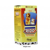 Ridd Mange And Ectoparasites Solution For Dogs And Cats 15 Ml