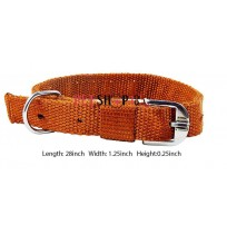 Nylon Royal Dog Collar Golden Brown 1.25 In