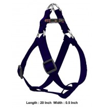 Super Dog Nylon Adjustable Dog Harness Blue 0.5 Inch