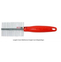 Super Dog Double Sided Red Comb
