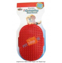 Super Dog Hand Brush Red