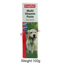 Beaphar Dog Supplements Multi Vitamin Paste For Dogs 100gm