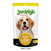Jerhigh Dog Treats Chicken And Liver Gravy 120 Gm