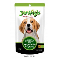 Jerhigh Dog Treats Chicken And Vegetable Gravy Pouch 120 Gm