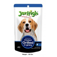 Jerhigh Dog Treats Chicken Grilled Gravy Pouch 120 Gm