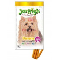 Jerhigh Dog Treats Fruity Banana Sticks 70 Gm