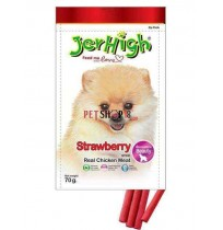 Jerhigh Dog Treats Fruity Strawberry Sticks 70 Gm