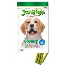 Jerhigh Dog Treats Spinach Sticks 70gm