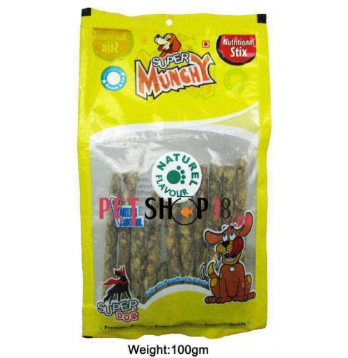 Super Dog Dog Treats Munches Stick Natural 10 In 1