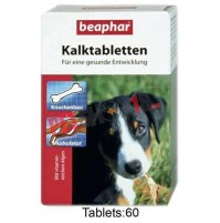 Beaphar Dog Supplements 60 Kalk Tablets