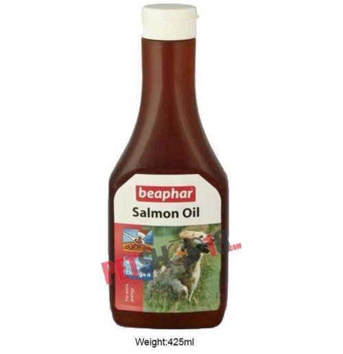 Beaphar Dog Supplements Salmon Oil For Dogs And Cats 425 Ml