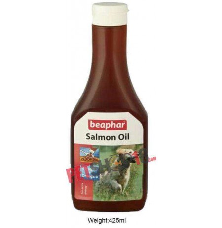 Beaphar Dog Supplements Salmon Oil For Dogs And Cats 425ml