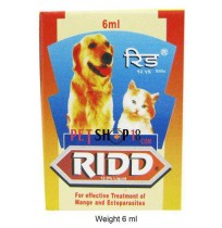 Ridd Mange And Ectoparasites Solution For Dogs And Cats 6 ml