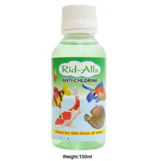 Rid All Fishes Med and Supplements Anti Chlorine 100 Ml