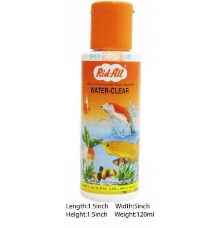 Rid All Fishes Med and Supplements Water Clear 120ml