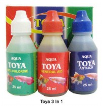 Toya Fishes Med and Supplements 3 In 1 Pack
