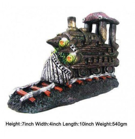 Engine On Railway Track Aquarium Toy