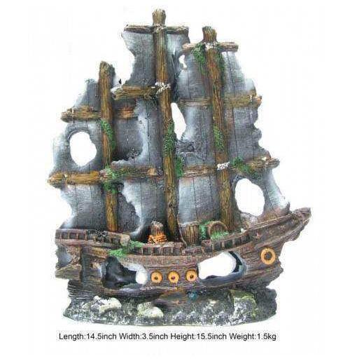 aquarium decorations pirate ship - Details about Pirate ...
