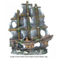 Pirate Ship Aquarium Decor