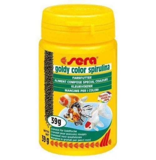 Sera fish food goldy color spirulina 39gm fishes buy for Spirulina fish food