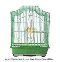Bird Cage Semi Flat Small Green