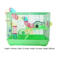 Color Full Hamster Cage Medium