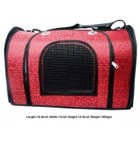Printed Carry Bag Red For Pet
