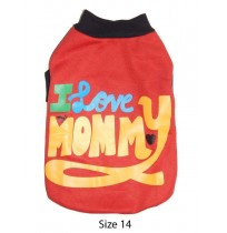 Winter T Shirt Red With I Love My Mommy Print 14