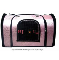 Printed Carry Bag Baby Pink For Pet