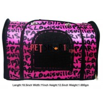 Printed Carry Bag Pink For Pet
