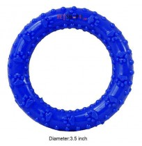 Super Dog Dog Toy Blue Ring With Flexible Chew For Dog Small