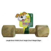 Super Dog Dog Toy Wooden Dumbbell Medium
